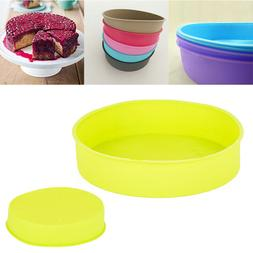 """10"""" Silicone Round Bread Mold Cake Pan Muffin Bakeware Mold"""