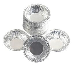 100 Pcs/Set Disposable Aluminum Foil Baking Cups Muffin Cook