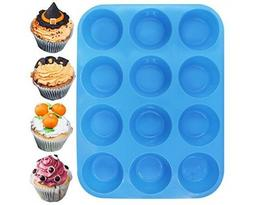 12 Cup Silicone Muffin | Cupcake Baking Pan