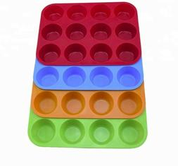 12 Round Muffin Tray - Cupcake - Cake Pan Non-stick Mess-fre
