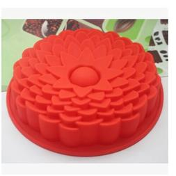 1PC Random Color BIG Silicone Sun Flower Baking Cake Pan Mol