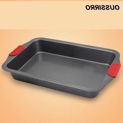 1pcs Baking Oven With Silicone Dandle <font><b>Rectangular</