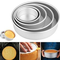 2-10Inch Sandwich Cake Baking Tin Pan Mould Box Round Deep L