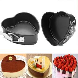 2 Pack 4 inch Love Heart Shape Cake Pan Non-stick Carbon Ste