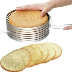 20*8cm Round Stainless Steel Cake Adjustable Ring Bakeware P