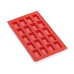 Lekue 20 Cavities Financier Multi Cavity Baking Mold, Red