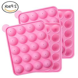 Tosnail 2 Pack of 20-Cavity Silicone Cake Pop Mold - Great f