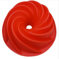 2PC Red Large Spiral shape Bundt Cake Pan Bread Chocolate Ba
