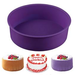 2X Round Shape Silicone Mold Cake Pan Mould Bread Toast Bake