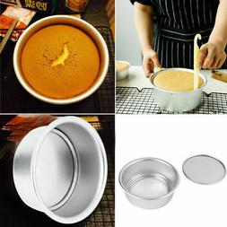 3 Size Aluminum Alloy Removable Bottom Round Cake Baking Mou