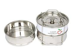 3 Stackable Stainless Steel Insert Pans 2 Cook Pans + 1 Stea