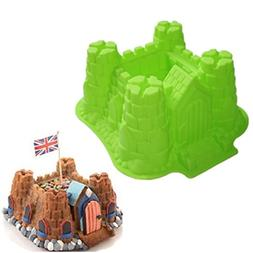 Allforhome 3d Castle Cake Baking Molds Bundt Pans Tray Bread