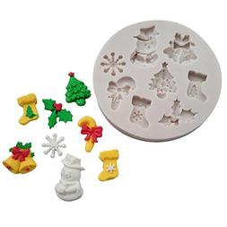 Sikye 3D Christmas Cookie Fondant Cake Chocolate Sugarcraft