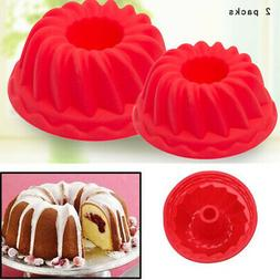 3D Silicone Molds Cake Pan Mold Baking Cupcake Mousse Decor