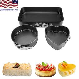 3pcs Cake Baking Pan Set Non Stick Kitchen Springform Pan Ov