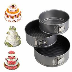 3pcs Nonstick Spring-form Cake Pan Leak-proof Cake Pan 3pcs
