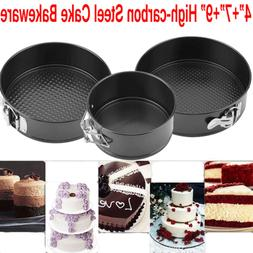 "4/7/9"" Non Stick Cake Tier Mold Baking Pan Tray Spring Form"