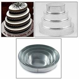 4 Tier Oval Multilayer Birthday Wedding Anniversary Cake Tin