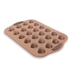 Nordic Ware 48443 Freshly Baked Copper Mini Muffin Pan, 24 C