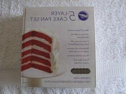 WILTON 5 LAYER CAKE PAN SET - MINT IN BOX