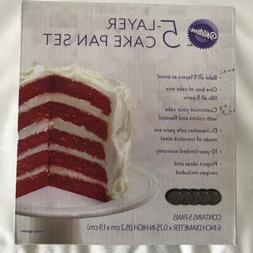 Wilton 5 Layer Cake Pan Set NIB CUTE 6 Inch