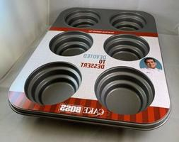 Cake Boss 59416 Novelty Nonstick Bakeware 6-Cup Round Cakele