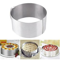 6-12 in Adjustable Circle Mousse Ring Baking Mould Cake Pan