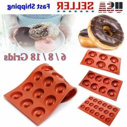 6/8/18 Cavity Silicone Doughnut Dessert Chocolate Baking Pan