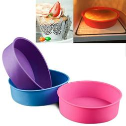 "6/8/9"" Round Silicone Bread Mold Cake Pan Muffin Bakeware Mo"