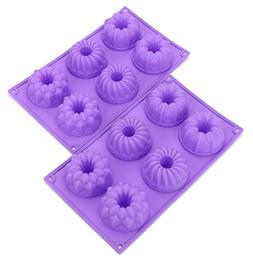 Bekith 6 Cavity Silicone Fancy Bundt Cake, Muffin Cups, Coff
