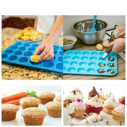 6-Cavity Silicone Mini Bundt Cake Mold Baking Pan Savarin Mo