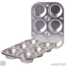 6 Cup Heavyweight Steel Bakeware Muffin Cooking Pan Baking M