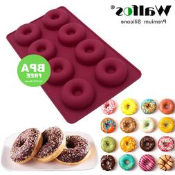 8 Hole Silicone Donut Muffin maker mold eco freindly Chocola