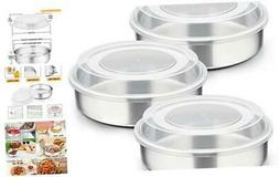 8-inch Cake Pan with Lid Set