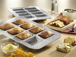 New 8 Well Mini Non Stick Steel Baking Cake Loaf Pan with Ki