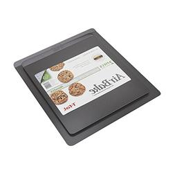 AirBake Nonstick 2 Pack Cookie Sheet Set, 14 x 12in and 16 x