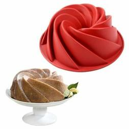 Silicone Baking Mould Swirl Bundt Ring Cake Bread Pastry Mol