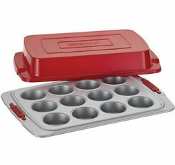 Cake Boss Deluxe Nonstick Bakeware 12-Cup Covered Muffin Pan