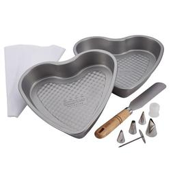 Cake Boss Professional Bakeware 10-Piece Santa and Heart Bak