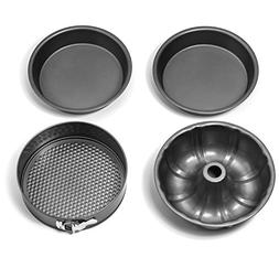 Elite Kitchenware 4 Piece Nonstick Cake Pans Set with 9 Inch