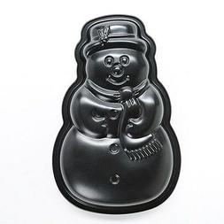 KAISER Holiday Nonstick Snowman CAKE PAN TIN 12-in Includes