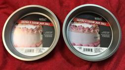 """Lot Of 2 Cooking Concepts Round Non Stick Cake Pan 8"""" Inch"""