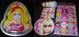 Mattel Barbie Birthday Party napkins plates cups tablecover