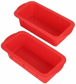 Set of 2 Silicone Rectangle Bread Mold and Loaf Pan Nonstick