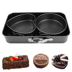 Set of 3 Non Stick Spring Form Baking Cake Pan Home Kitchen