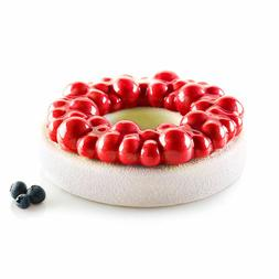 Silicone Pan Ring Shaped Cake Pastry Bread Mold Tray Mould B