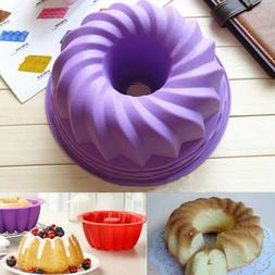Silicone Pan Ring Shaped Cake PastryBread Mold Tray Mould Ba