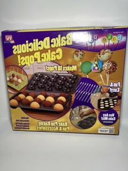 Telebrands 5720-12 Bake Pop: Cake Pops Baking Pan & Accessor