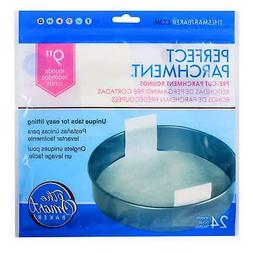 The Smart Baker 9 inch Round Perfect Parchment Paper - 24 Pa