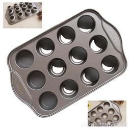 Tosnail 12 Cavity Mini Cheesecake Pan with 12 Individual Cup